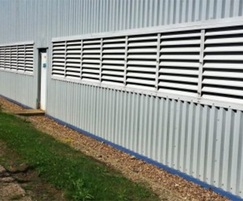 Fixed box ventilation louvres