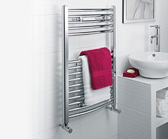 ULTRAHEAT Chelmsford arched towel rail in chrome