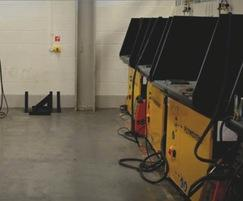 25 DraftMax downdraft tables extract welding fumes