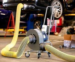 FumeCaddie™ portable vehicle exhaust extractor