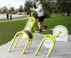 outdoor gym equipment cross trainer