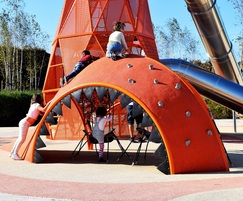 premium play themed fish slide and climbing tower