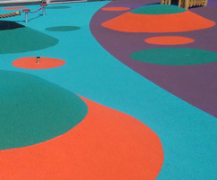coloured wet pour rubber safety surfacing