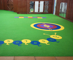 wet pour rubber safety surfacing graphics
