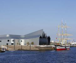 The Museum sits right next to Glasgow's River Clyde