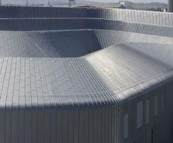 Beautifully curved zinc cladding: detail