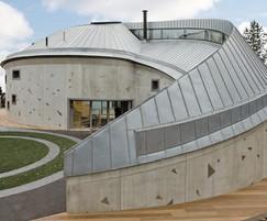 Maggie's Centre, Swansea: zinc roofing