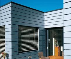 Zinc angled standing seam facade system
