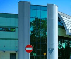 RHEINZINK prePATINA cladding for an airport in Poland