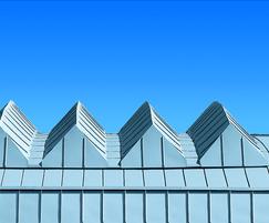RHEINZINK prePATINA roofing for an airport in Poland
