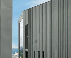 RHEINZINK cladding on Ulstein Arena facade