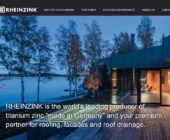 RHEINZINK: New look for RHEINZINK'S website