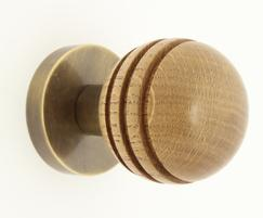 Arbor 34301 mortice knob in oak and antique brass