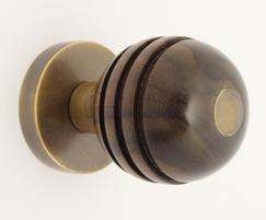 Arbor 34303 mortice knob in rosewood and antique brass