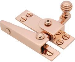 Classic range sash fastener in copper plated finish