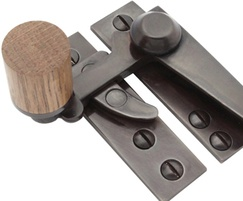 Arbor sash fastener - oak with IB finish components