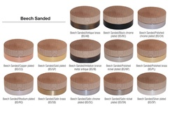 Materials and finishes - Beech sanded