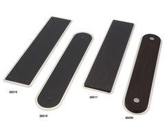 Arbor finger plates in rosewood and polished nickel