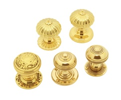 Classic range mortice knob in antique brass finish