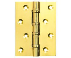 Ball race hinge in polished brass from Silver Kite