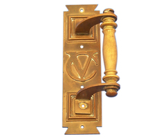 One of the original bronze pull handles