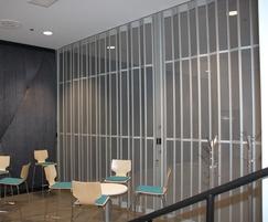 Aeroflex clear anodised sliding security shutter