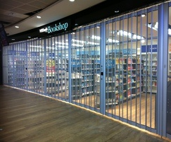 Aeroflex sliding security shutter for WH Smiths