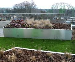 Gretton stainless roof garden planters
