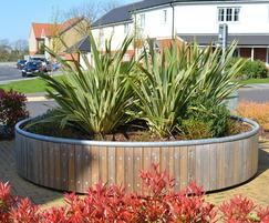 Large circular tree planter