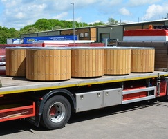 Castleton Planters with hiab offloading delivery