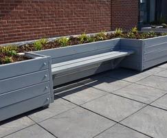Grenadier roof garden planter with Henley bench