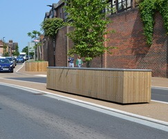 Castleton long rectangular planter in FSC timber
