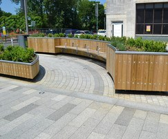 Castleton large shaped planter in FSC redwood