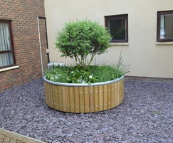 Castleton circular planter in FSC redwood
