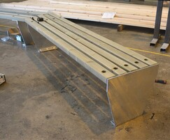 Slatted bench