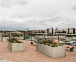 Gretton planters and benches for roof top