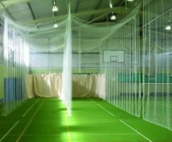 Bespoke indoor cricket practice nets tildenet esi for Indoor cricket net design