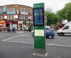 Digital totem - Ealing Broadway bus interchange