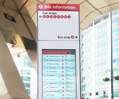 TSG digital totem - Vauxhall bus station