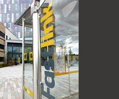 Detail of new Fastlink waiting shelter