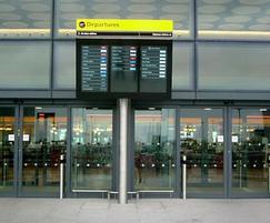 Flight information and departure screens (FIDS)
