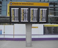 Flight information and departure screens (FIDS)