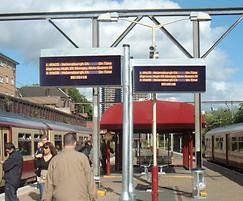 Rail station real time (RTI) next train indicator