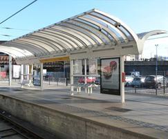 Bespoke canopy for railway platform