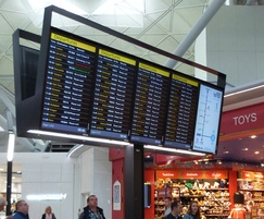 Flight information and departure screen - Stansted