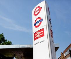 Transport for London interchange totem