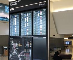 Digital signage display - San Francisco Airport
