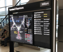 Digital passenger information display at airport