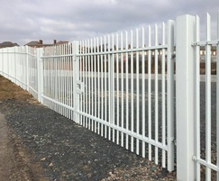High security palisade fencing and gate