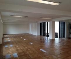 Bespoke teak floor with CAM-C underfloor air con system